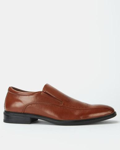 Bata Formal Flexible Slip On Shoes Brown