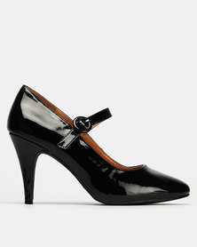 Bata Mary Jane Heels Black