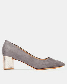 Bata Closed Heels Grey