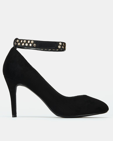 Bata Suede Dress Heels Black