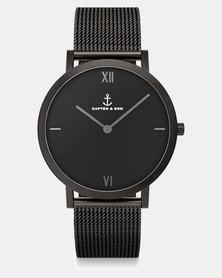 Kapten & Son Pure Nox Mesh Watch Black