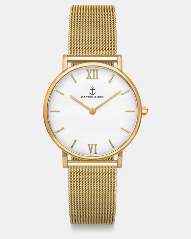 Kapten & Son Joy  Mesh Watch Gold