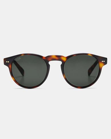 Kapten & Son Berkeley Gloss Tortoise Sunglasses Green