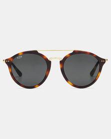 Kapten & Son Fitzroy Matt Tortoise Sunglasses Black