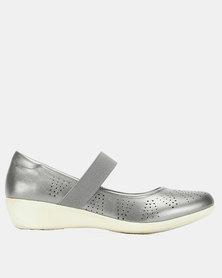 Bata Comfit Casual Strap Shoes Silver