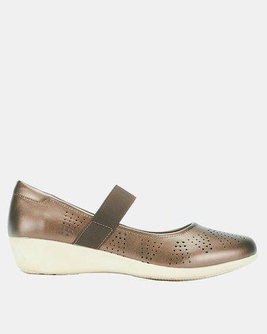 Bata Comfit Casual Strap Shoes Bronze