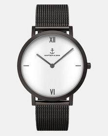 Kapten & Son Pure Lux Mesh Watch Black