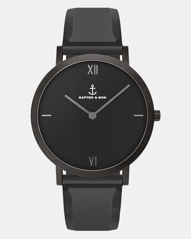 Kapten & Son Pure Watch Black