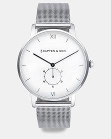 Kapten & Son Heritage Mesh Watch Silver