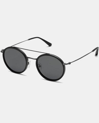 Kapten & Son Bali Sunglasses Matt Black Silver Black