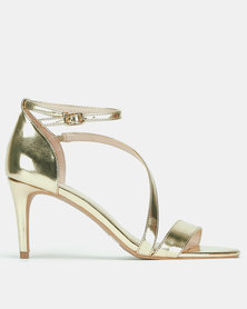Bata Red Label Strap Detail Heels Gold