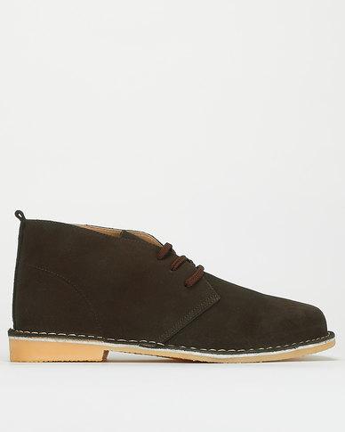 Bata Safari Casual Lace Up Shoes Brown