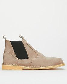 Bata Safari Casual Slip On Shoes Khaki