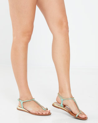 Dolce Vita Natale Flat Sandals Mint