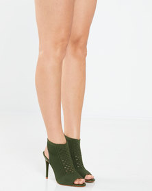 Dolce Vita Malaga Knit Heels Olive