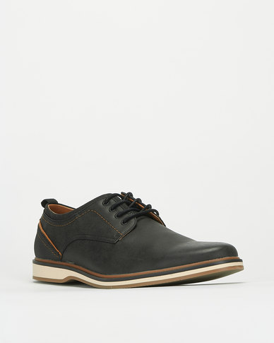 Bata Red Label Casual Lace Up Shoes Black