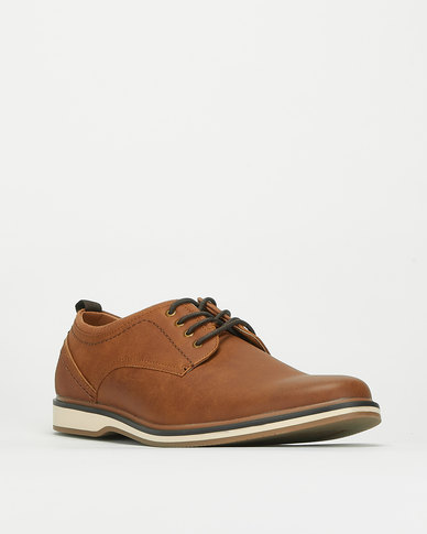 Bata Red Label Casual Lace Up Shoes Brown