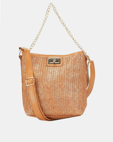 Miss Maxi Natural Simple Woven CrossBody Bag