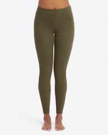 Spanx Jeanish Ankle Leggings - Dark Olive