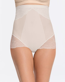 Spanx Spotlight on Lace High-Waisted Brief-Clean White