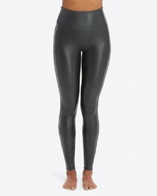 Spanx Faux Leather Pebbled Leggings - Pebble Grey