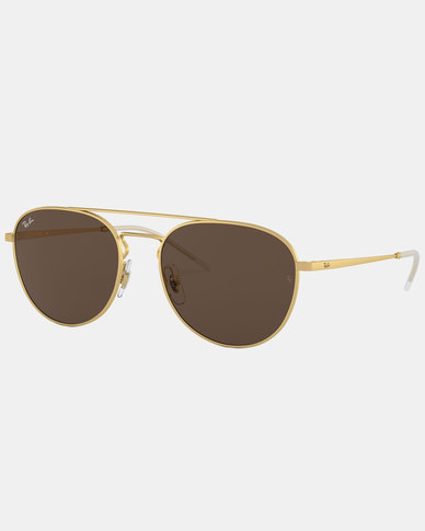 Ray-Ban RB3589 Rubber Copper Sunglasses Gold-tone