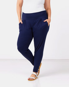 Slick Plus Navy Roxanne Classic Pants