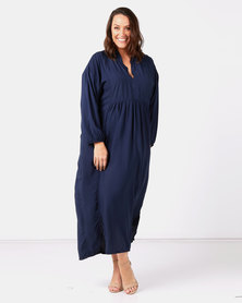 Slick Plus Navy Anne Boho Styled Dress