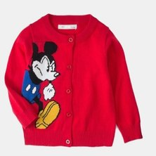 Boys are Kings Mickey Mouse Cardigan Jersey Red