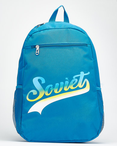 Soviet Chicago Fire Backpack Blue