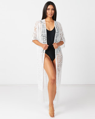 Utopia Crochet Swimwear Kaftan Neutral