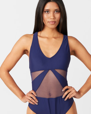 Utopia One Piece with Mesh Insets Blue
