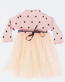 Utopia Girls Polka Dress Pink