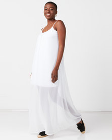 Utopia Maxi Aline Dress White