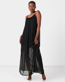 Utopia Maxi Aline Dress Black
