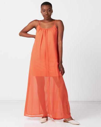 Utopia Maxi Aline Dress Salmon