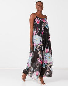 Utopia Floral Maxi Aline Dress Tulip Multi