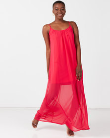 Utopia Maxi Aline Dress Raspberry