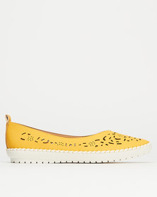 Queenspark Cut Out Espadrille Pumps Yellow