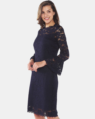 cath.nic By Queenspark New Lace Woven Dress Navy