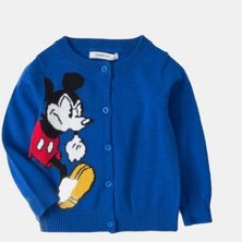 Boys are Kings Mickey Mouse Cardigan Jersey Blue