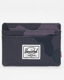 Herschel Charlie RFID Wallet Night Camo Green