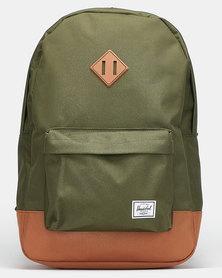 Herschel Heritage Backpack Dark Olive/Saddle Brown
