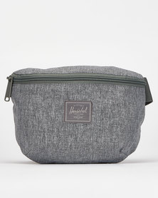 Herschel Raven Crosshatch Fourteen Light Hipsack Grey