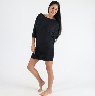 Shakti Shanti Polyester Elastane Bat Wing Dress Top with Rouching