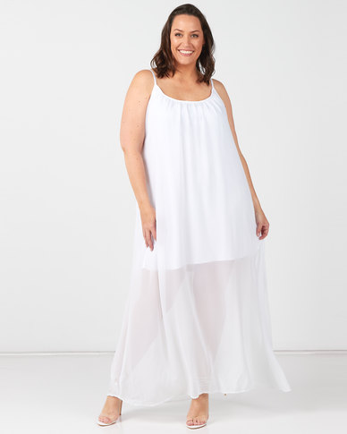 Utopia Plus White Maxi A-line Dress