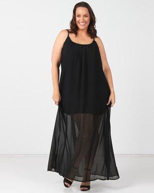 Utopia Plus Black Maxi A-line Dress