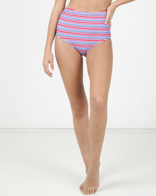 Sun Things Sun Love High Waisted Bottom Candy Stripe