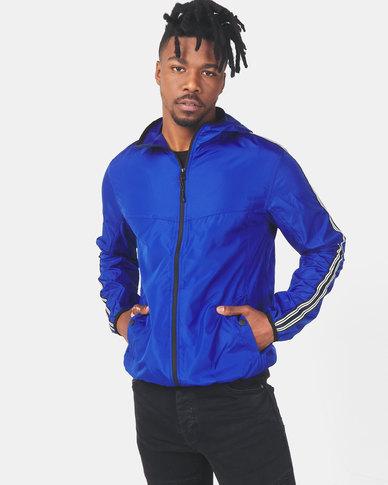 Brave Soul Pep Lightweight Hooded Jacket Cobalt Blue