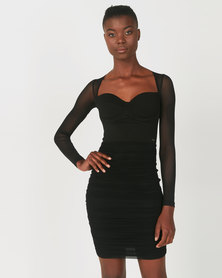 Sissy Boy Guess Who Midi Dress Black